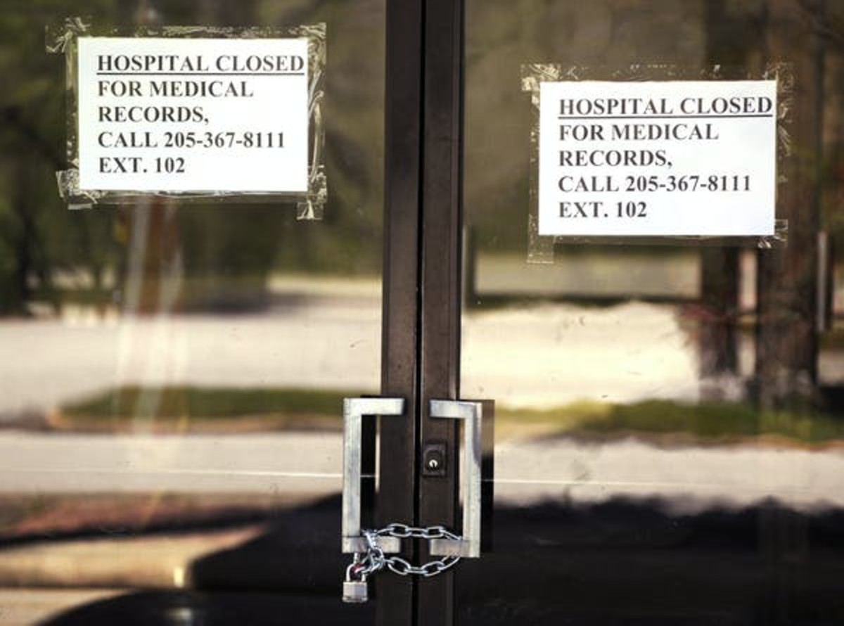 The recently closed Pickens County Medical Center in Carrollton, Alabama, one of the latest health care facilities to fall victim to a wave of rural hospital shutdowns across the United States. AP /Jay Reeves