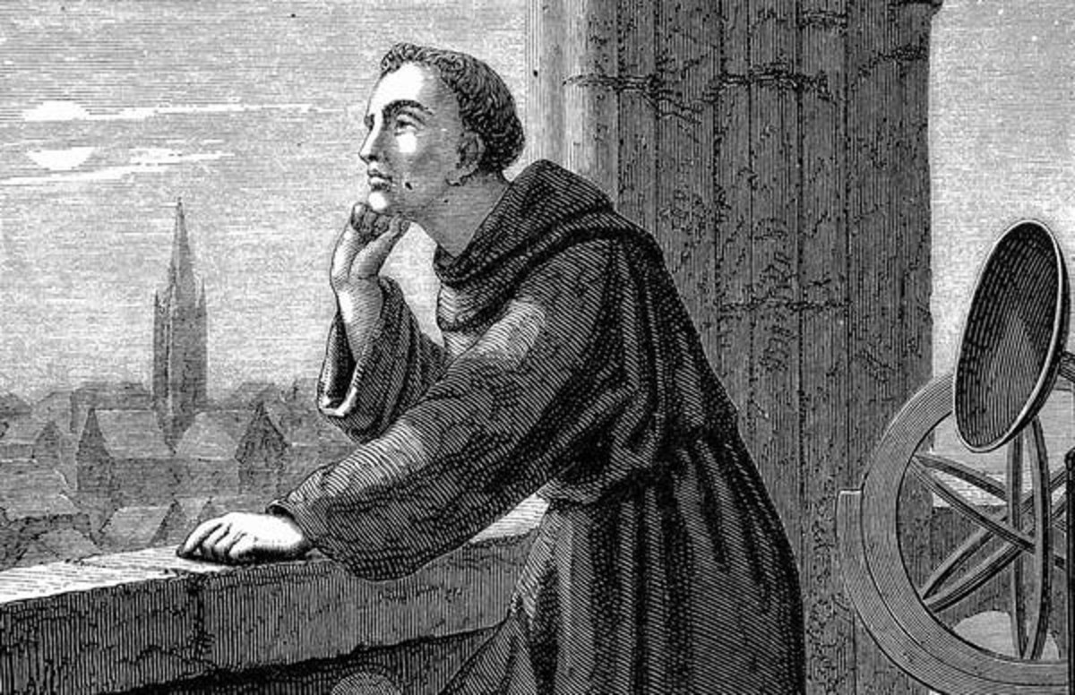 Artist Jan Verhas illustrated Roger Bacon observing stars from Oxford. Astronomy was just one of the many areas of science Bacon explored as he compiled encyclopedias of scientific knowledge. Wikimedia