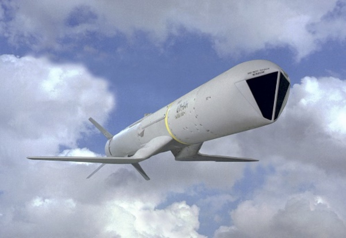 """Standoff Land Attack Missile Expanded Response (SLAM ER) is a """"combat-proven, all-weather, over-the-horizon, precision-strike missile."""" (Source: Boeing)"""