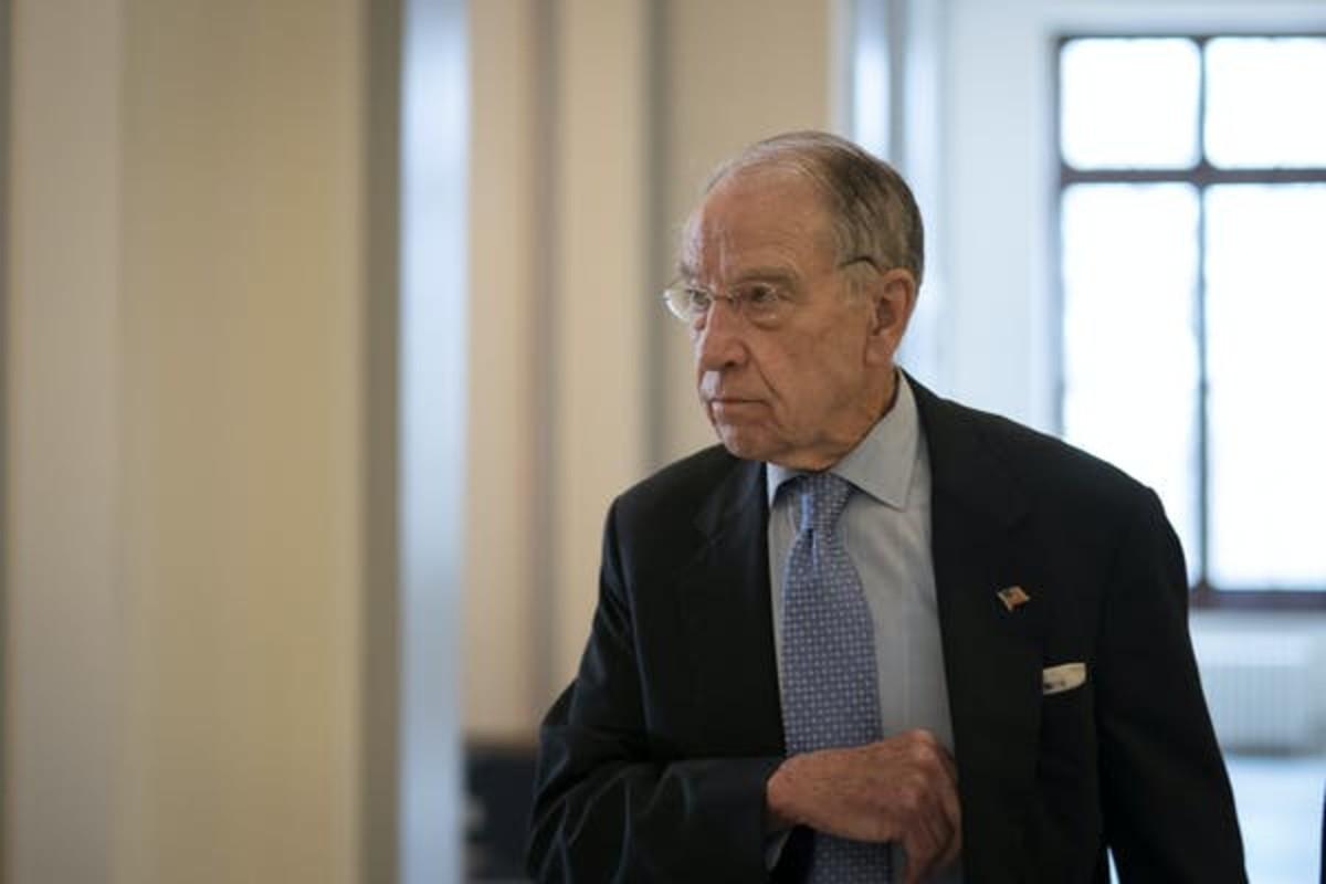 Sen. Chuck Grassley, Republican from Iowa, criticized the reason Trump offered for firing Linick. Getty/Drew Angerer