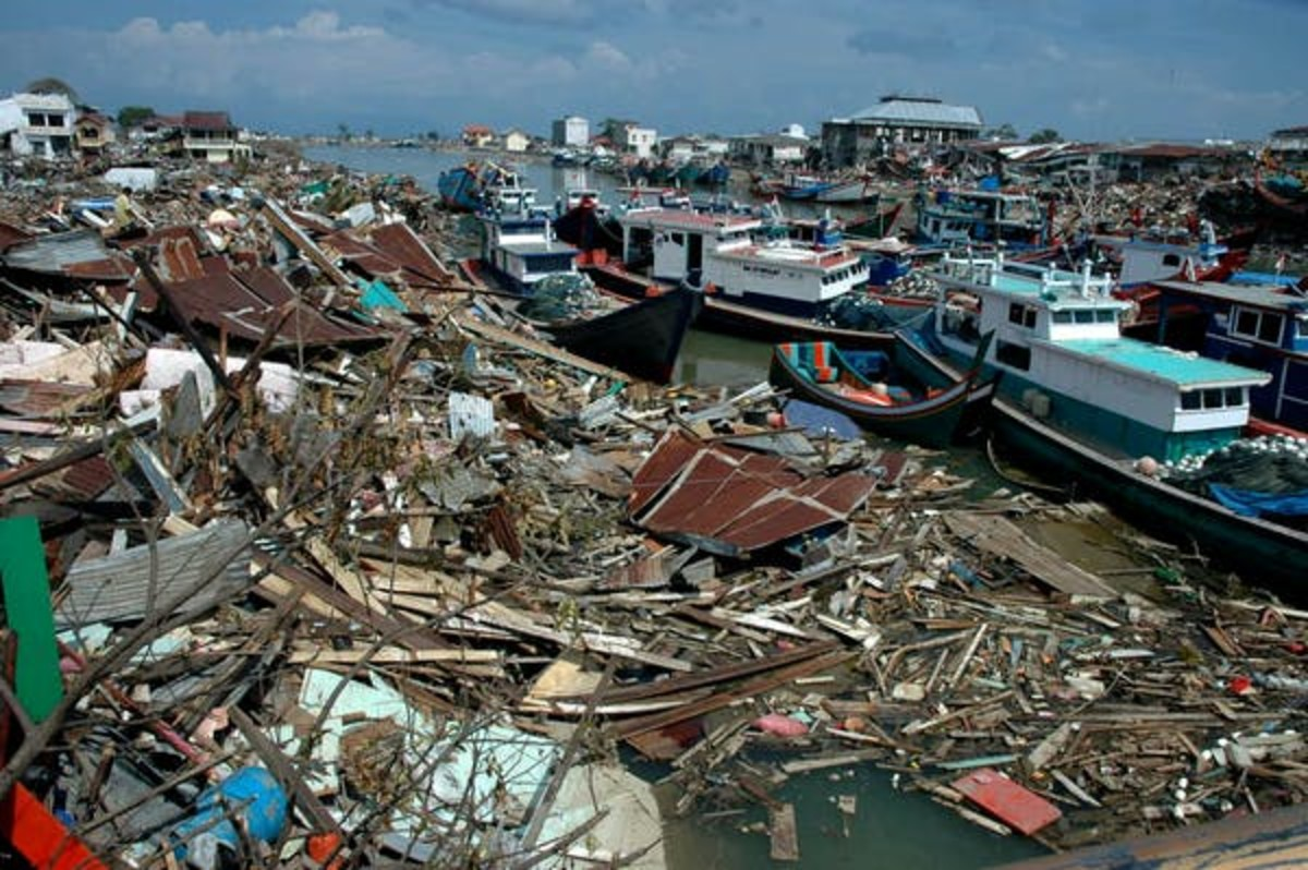 Banda Aceh, Indonesia, after the 2004 tsunami: the impact of disaster is not felt equally by all. www.shutterstock.com