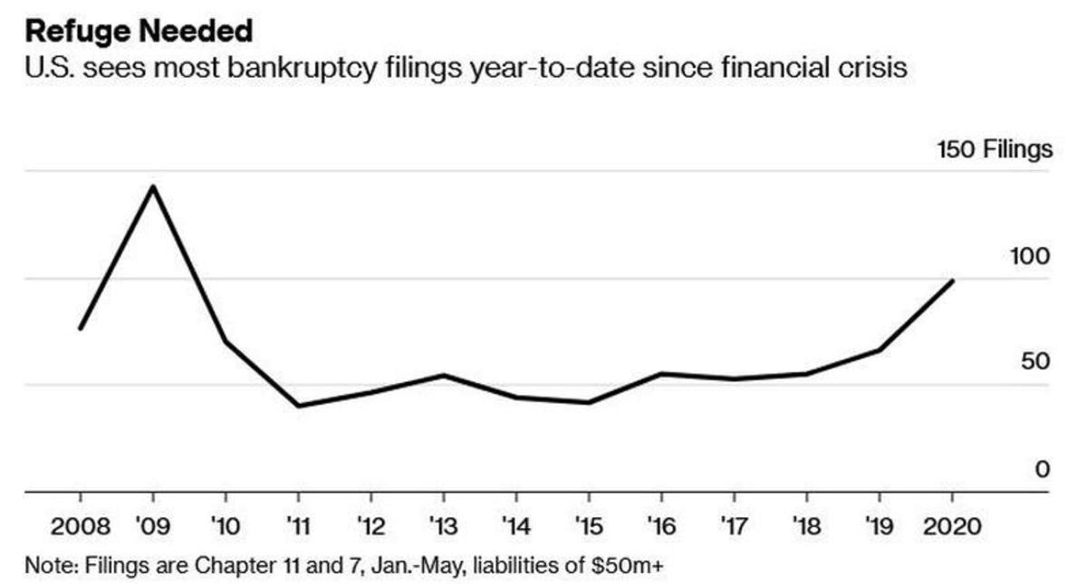 bankruptcy filings YTD