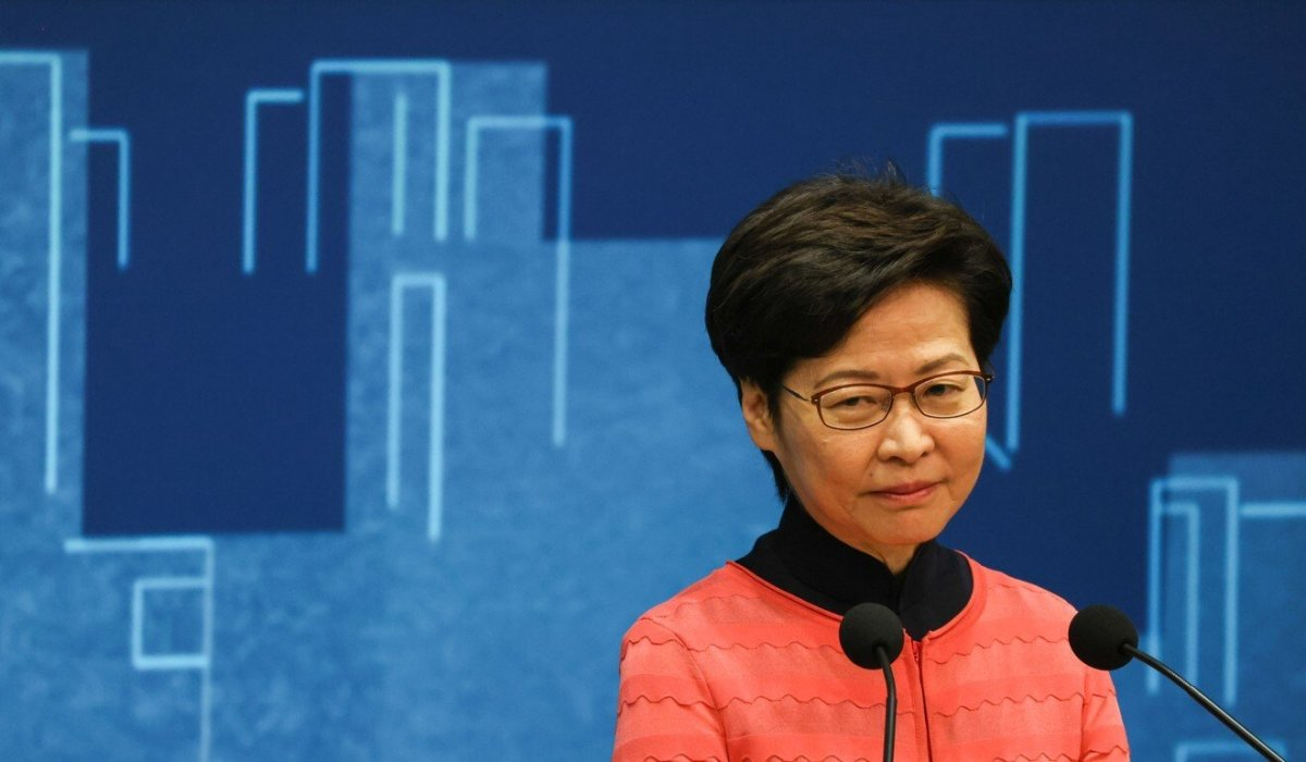 Chief Executive Carrie Lam on Sunday noted some Hong Kong industries are still suffering, particularly in terms of cash flow. Photo: Nora Tam