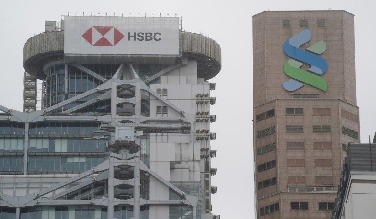 The HSBC and Standard Chartered Bank buildings in Central, Hong Kong. Photo: SCMP / Sam Tsang