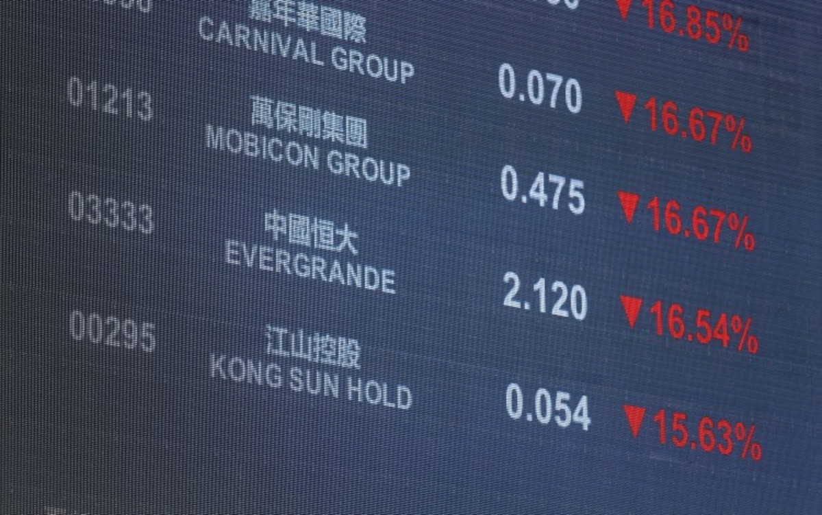 Hong Kong Stocks Are Cheapest Against Chinese Equities In A Year Amid Evergrande Debt Woes, Regulatory Storm