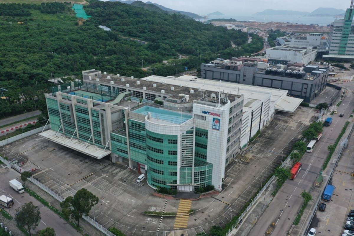 Apple Daily's headquarters in Tseung Kwan O on 10 August 2021. Photo: Winson Wong.
