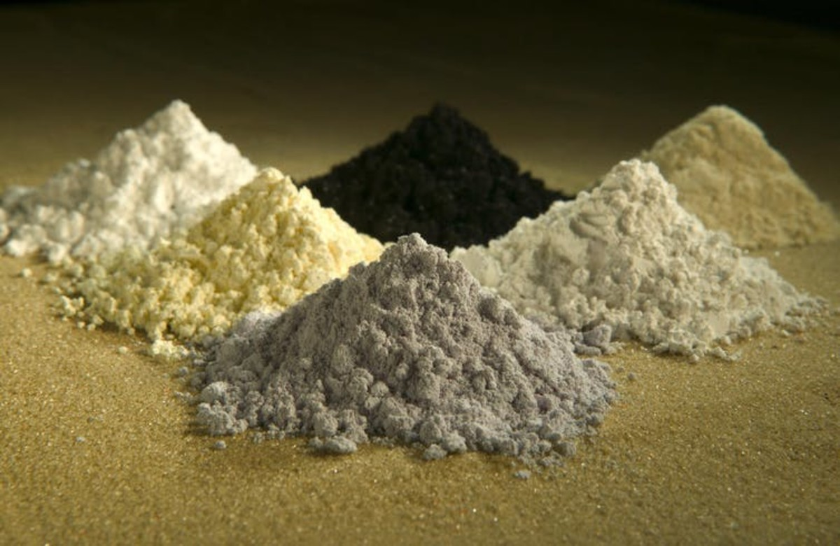 Examples of rare earth elements, which are used in batteries. Peggy Greb/USDA