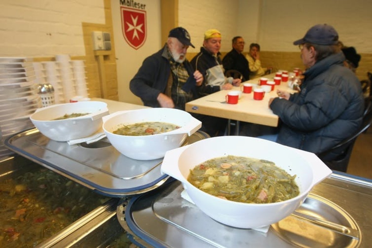 A soup kitchen in Berlin in 2009. Poverty in Germany, already rising, was exacerbated by the financial crisis. Sean Gallup/Getty Images