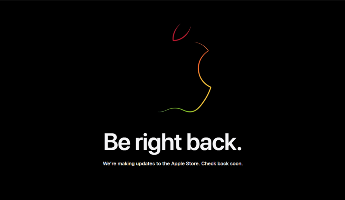 Be Right Back Print Screen from Apple.com