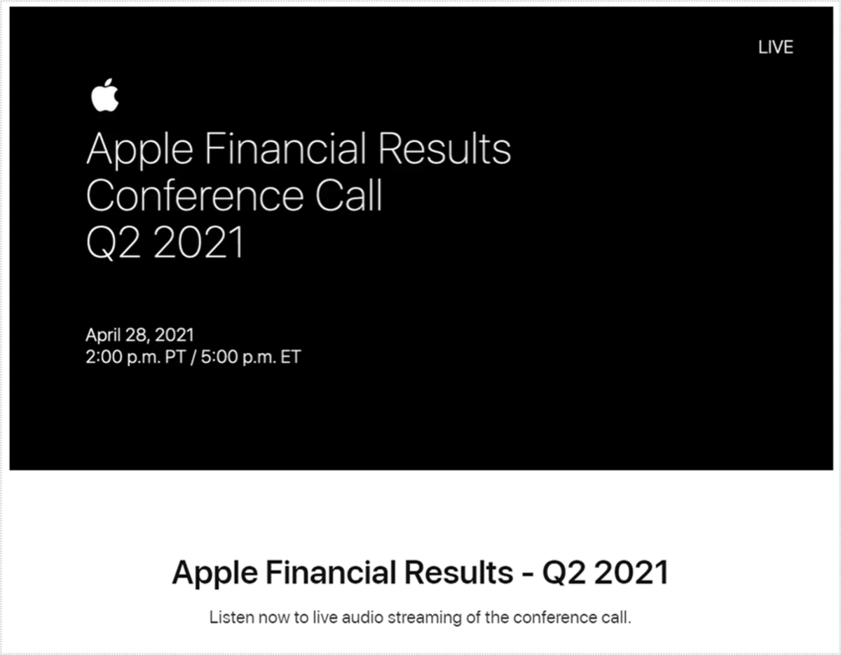 Apple Financial Results Q2 2021