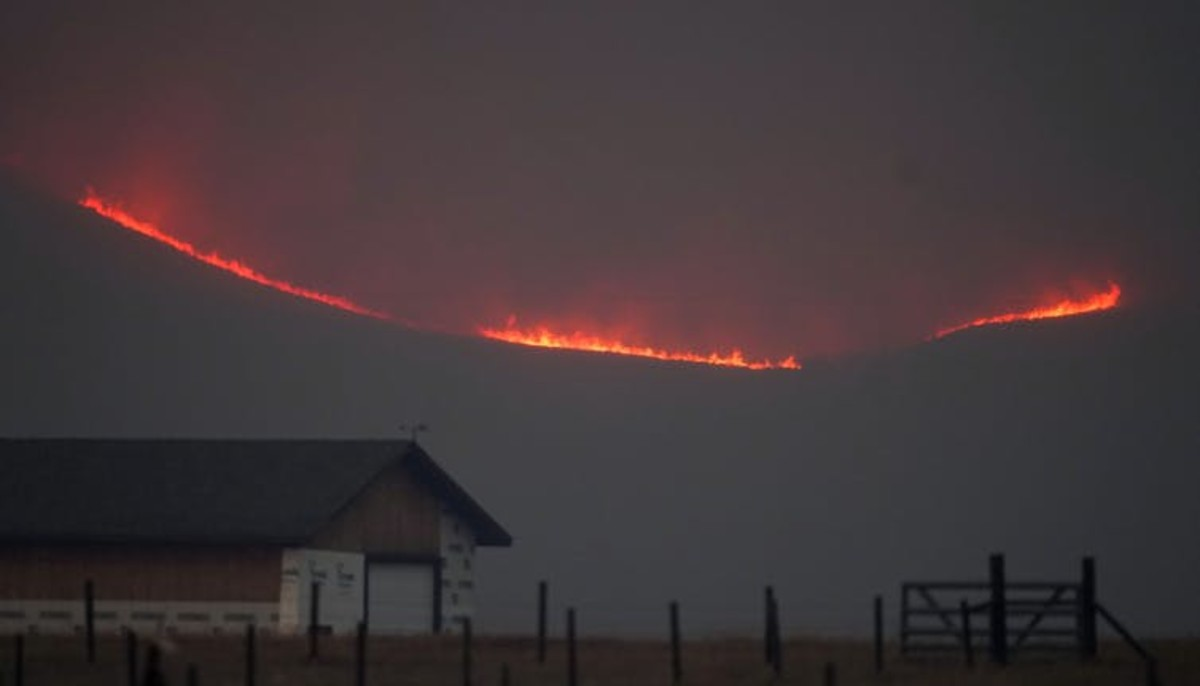 One of Colorado's largest wildfires, 2020's East Troublesome Fire, crossed the Continental Divide and was burning at elevations around 9,000 feet in October, when snow normally would have been falling. AP Photo/David Zalubowski