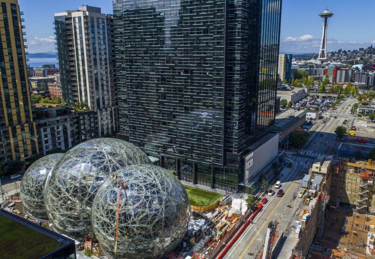 Figure 1; Amazon's HQ in Seattle, WA.