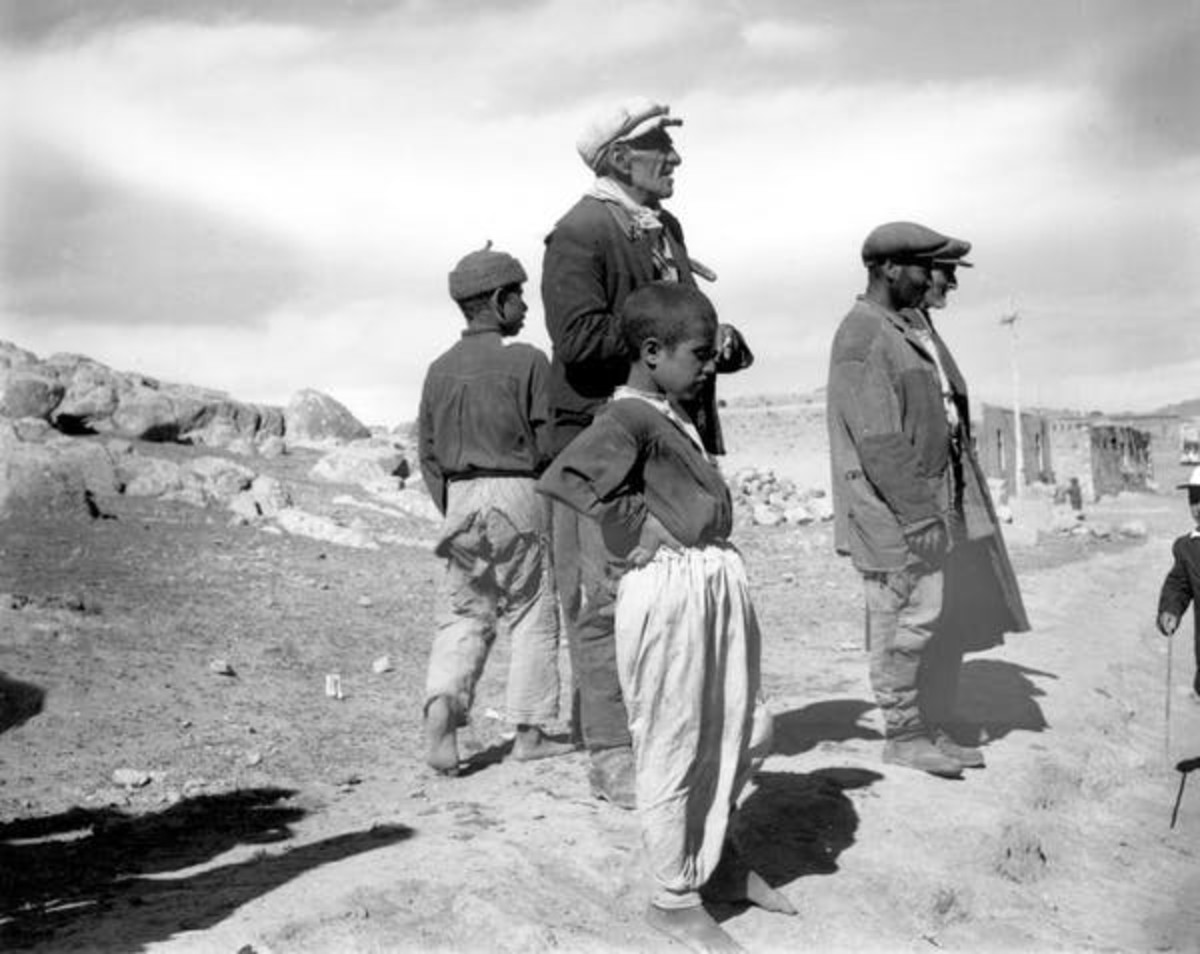 The poorest and most vulnerable people are often hit hardest by drought. In 1962 near Erzurum, Turkey, an impoverished family stared at a barren plain left dry and unproductive by drought that resulted in famine. Associated Press
