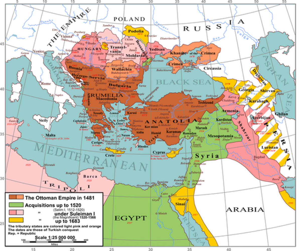 Lands of the Ottoman Empire.André Koehne/The Historical Atlas by William R. Shepherd, 1923, CC BY-SA