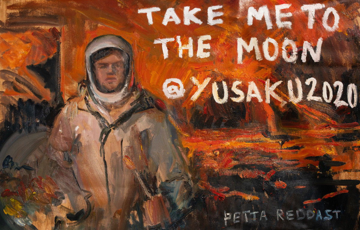 """Max Denison-Pender's self-portrait-turned-NFT, 'Take me to the Moon."""""""
