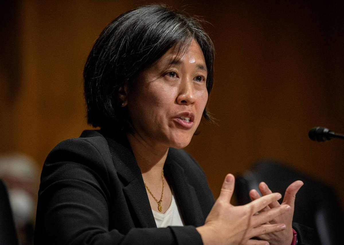 US trade representative Katherine Tai spoke to her Taiwanese counterpart on Thursday. Photo: AFP via Getty Images/TNS