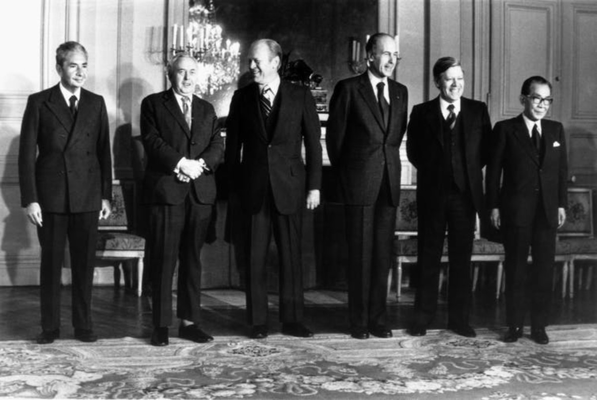Back in 1975, when what is now known as the G-7 was formed, only six nations belonged. AP Photo/Patrick Semansky