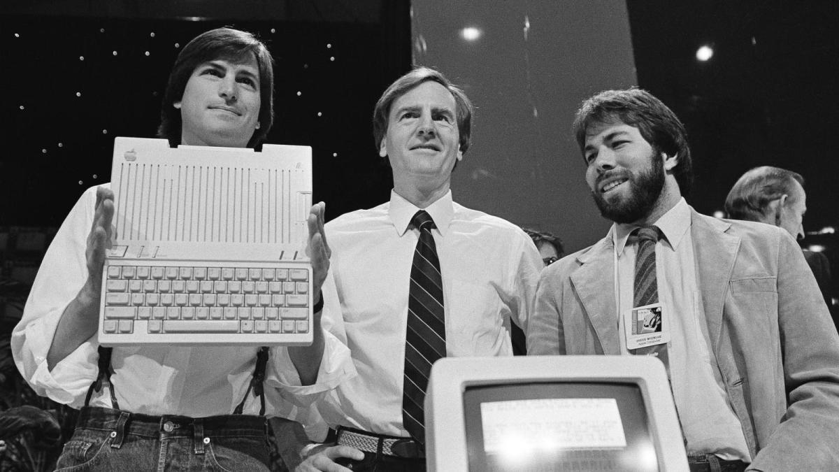 Figure 1: Steve Jobs, John Sculley and Steve Wozniak in 1980.