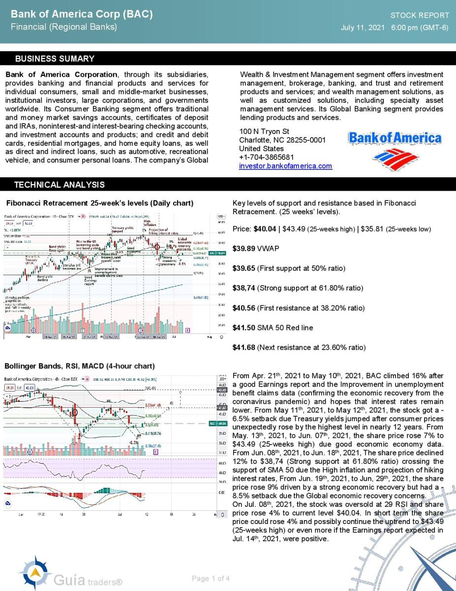Bank of America Corp (BAC)  Full analysis 7-11-2021-page-001