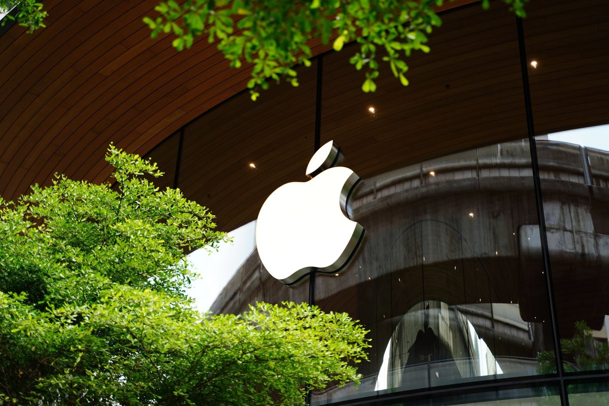Figure 1: Apple logo on a store.