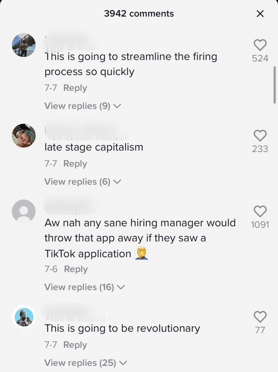 Comments on the TikTok Resumes announcement