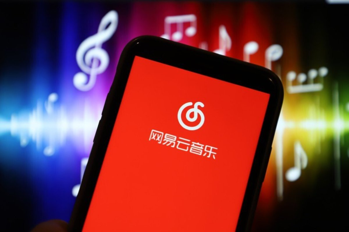NetEase's cloud-based music interface on display on a smartphone in Linyi, China. Photo: Getty Images