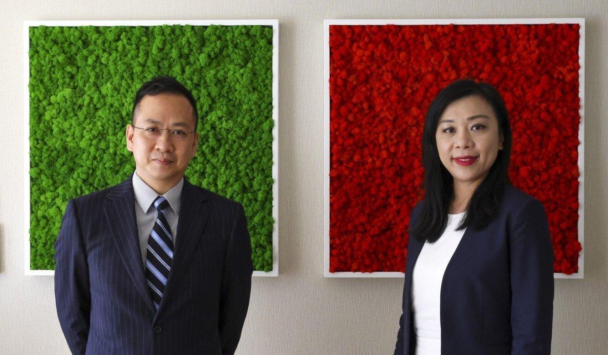Edvantage Group CFO Wong Shing-mun (left) and CEO Liu Yi-man. Photo: Dickson Lee