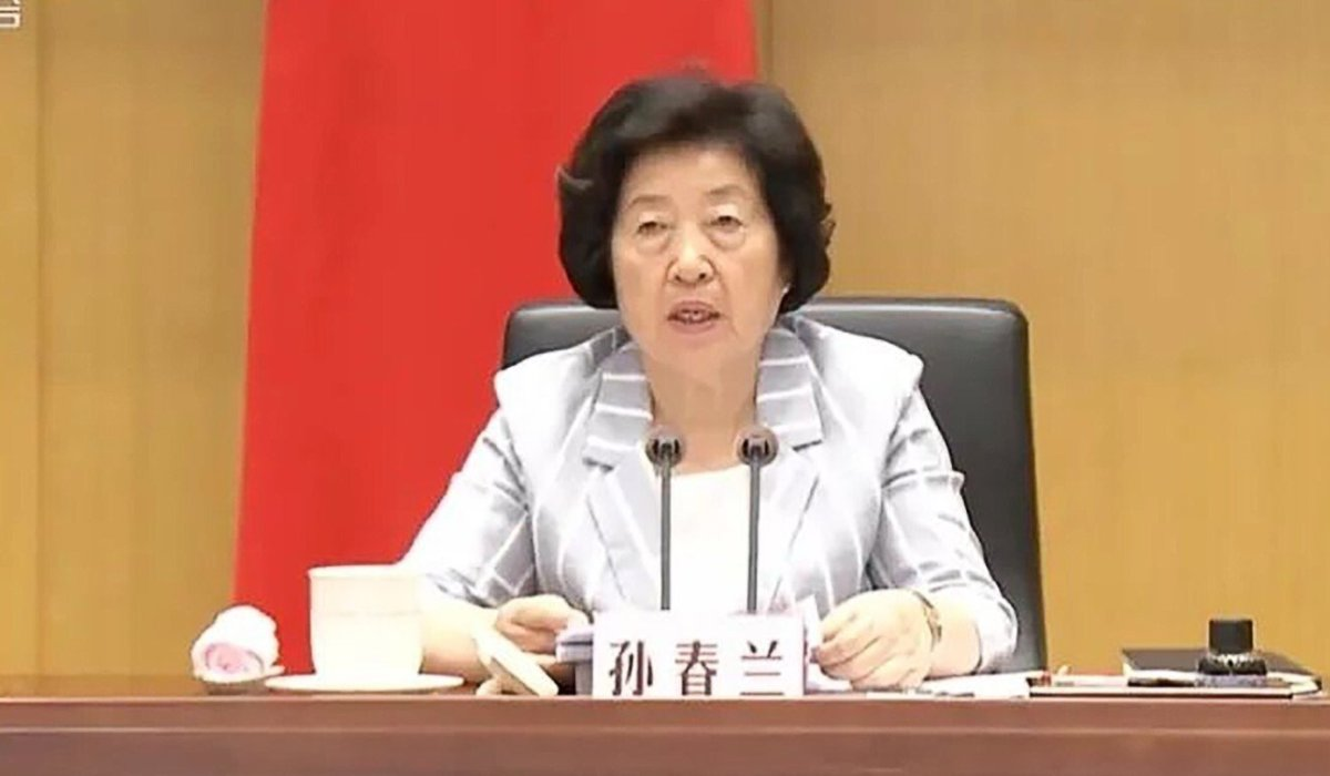 Vice-Premier Sun Chunlan told officials to make it their top priority to contain the Delta variant. Photo: CCTV