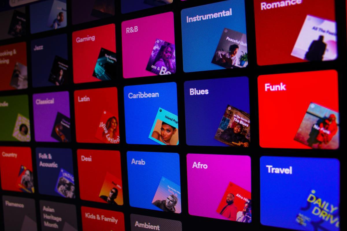 Figure 1: Spotify genre list.
