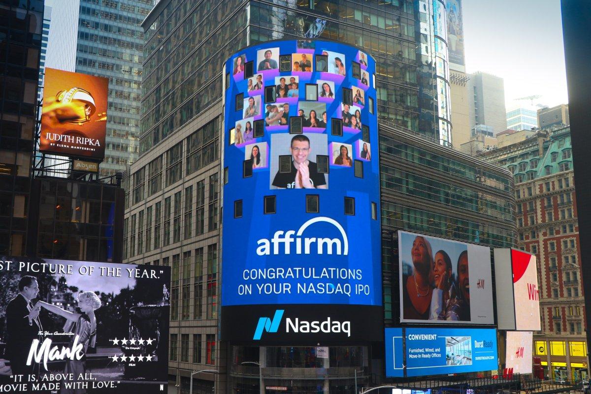 Figure 1: Affirm's NASDAQ IPO.