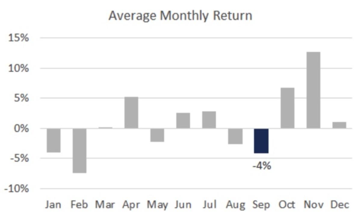 Figure 2: DIS average monthly return.