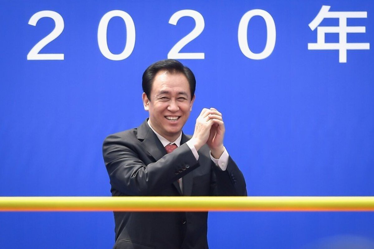 Hui Ka-yan, also known as Xu Jiayin, the billionaire chairman of China Evergrande Group, during the opening ceremony of the home ground of the Guangzhou Evergrande Taobao football team in Guangzhou on 16 April 2020.